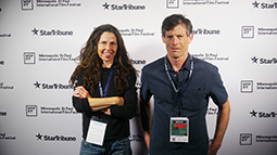Creators of the award-winning feature film, 'Farmer of the Year', Kathy Swanson and Vince O'Connell, on the red carpet at the Minneapolis St. Paul Int'l Film Festival.