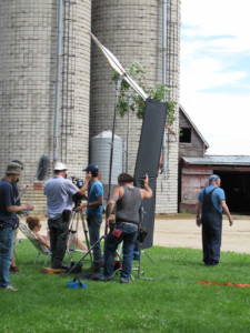Filming in southwestern Minnesota. Photo courtesy of YellowHouse Films.